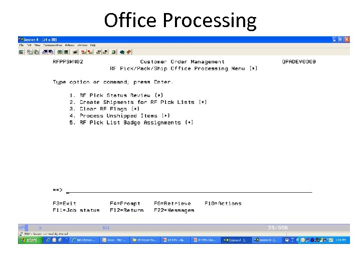 Office Processing