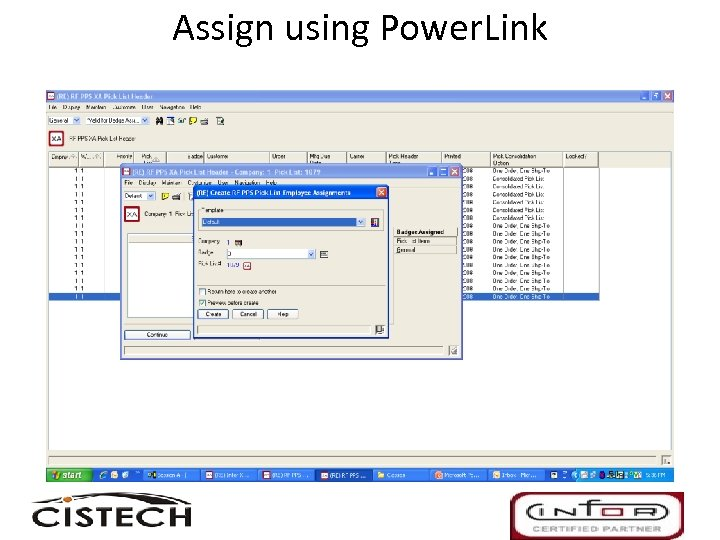 Assign using Power. Link