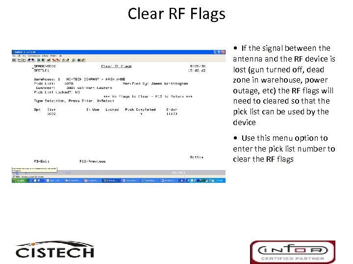 Clear RF Flags • If the signal between the antenna and the RF device
