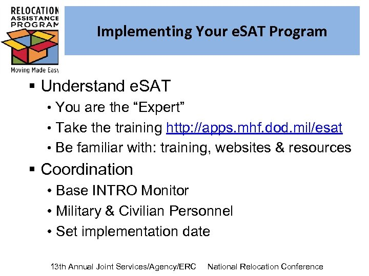"Implementing Your e. SAT Program § Understand e. SAT • You are the ""Expert"""