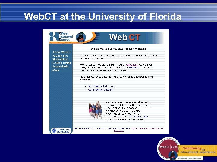Web. CT at the University of Florida