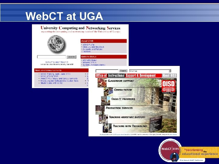 Web. CT at UGA