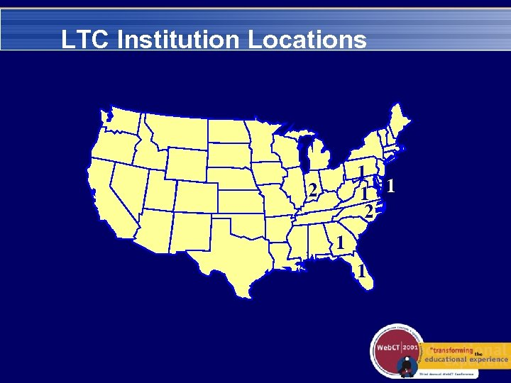 LTC Institution Locations 1 1 1 2 2 1 1