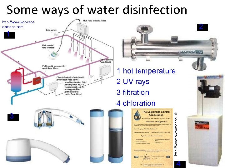 Some ways of water disinfection http: //www. konceptekotech. com 2 1 3 http: //www.