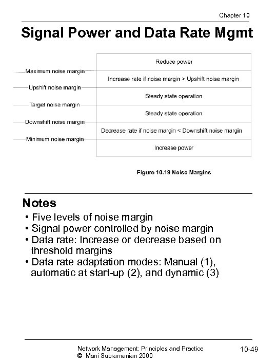 Chapter 10 Signal Power and Data Rate Mgmt Notes • Five levels of noise