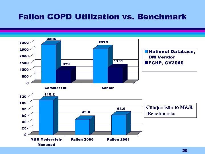 Fallon COPD Utilization vs. Benchmark Comparison to M&R Benchmarks 29
