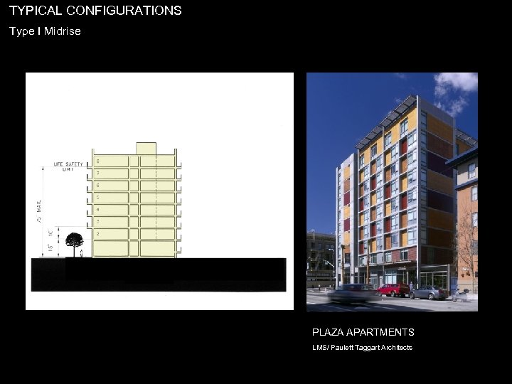 TYPICAL CONFIGURATIONS Type I Midrise PLAZA APARTMENTS LMS/ Paulett Taggart Architects