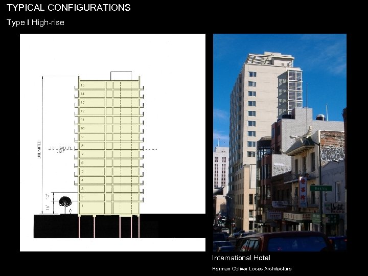TYPICAL CONFIGURATIONS Type I High-rise International Hotel Herman Coliver Locus Architecture