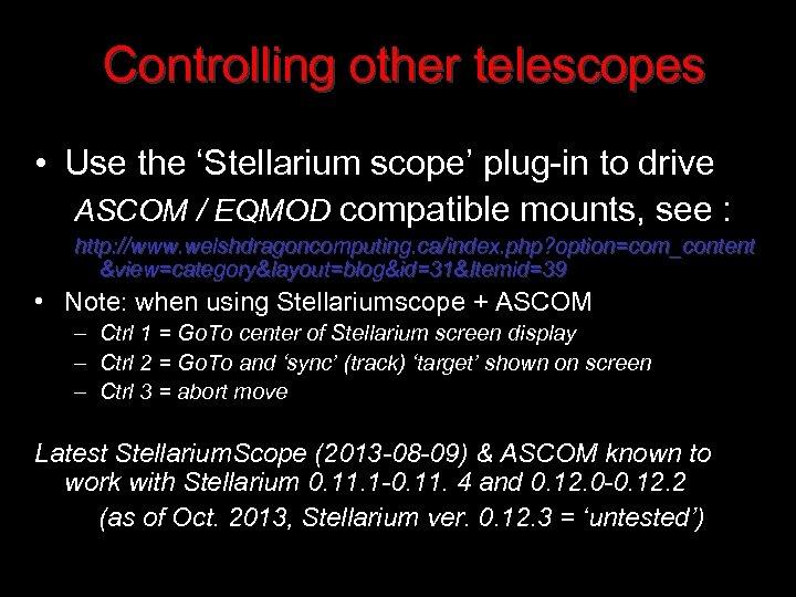 Stellarium Demo