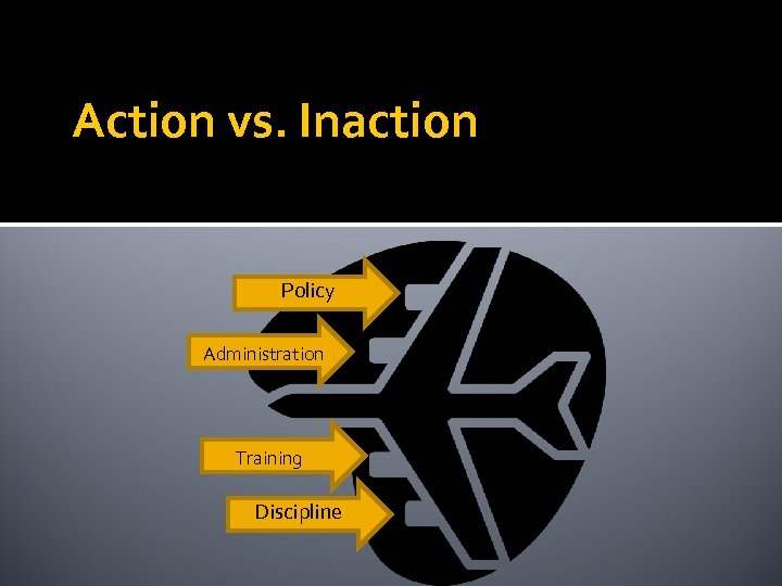 Action vs. Inaction Policy Administration Training Discipline