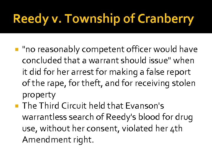 Reedy v. Township of Cranberry