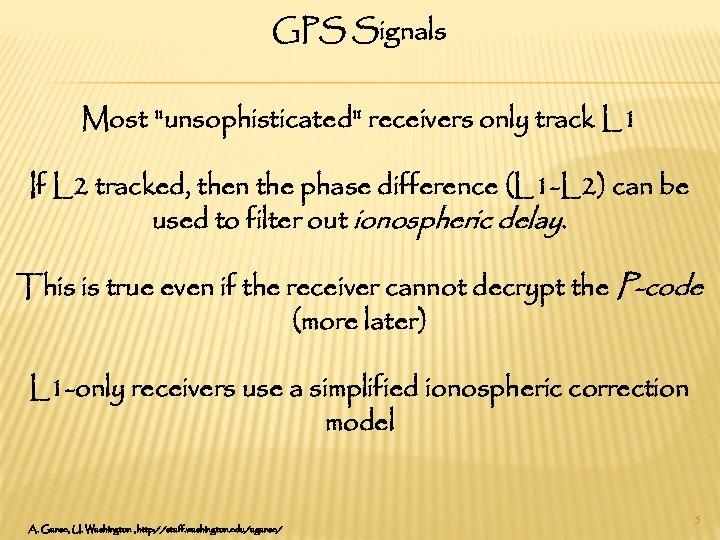 GPS Signals Most