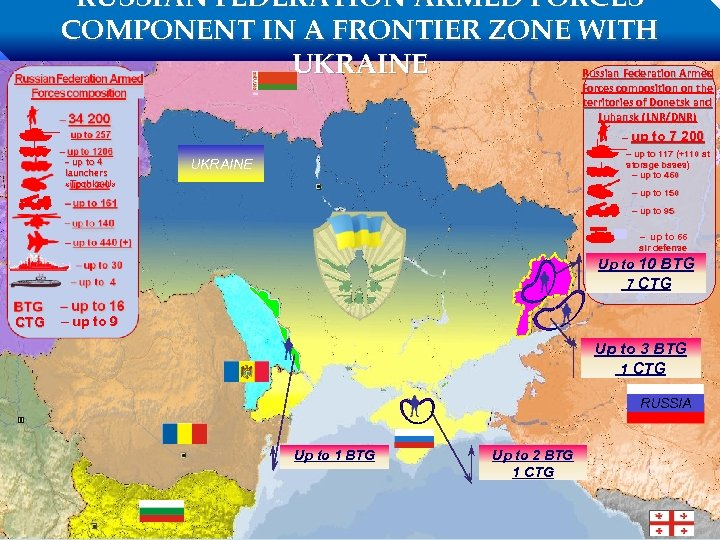 RUSSIAN FEDERATION ARMED FORCES COMPONENT IN A FRONTIER ZONE WITH UKRAINE Russian Federation Armed
