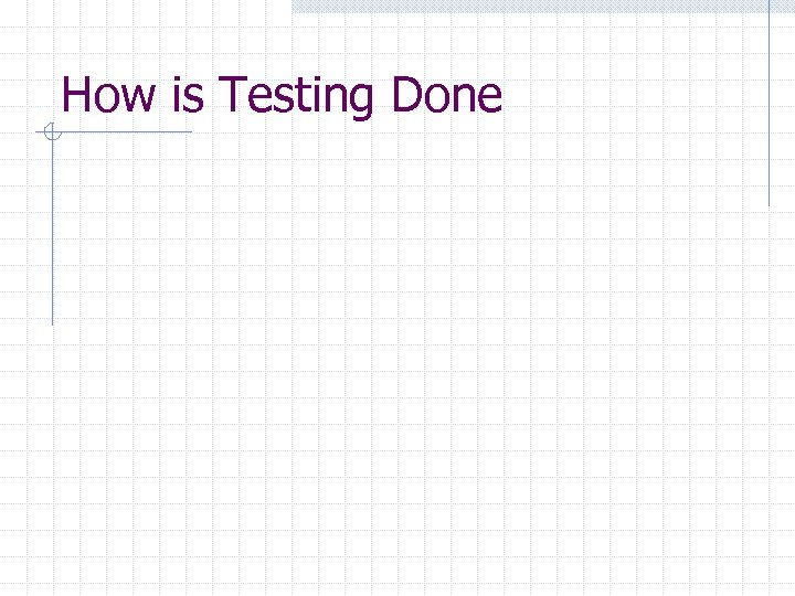 How is Testing Done