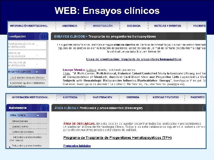 WEB: Ensayos clínicos