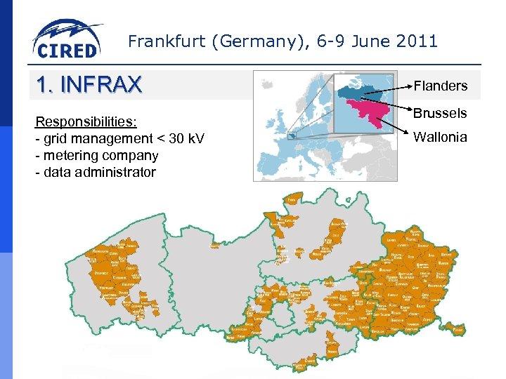 Frankfurt (Germany), 6 -9 June 2011 1. INFRAX Responsibilities: - grid management < 30