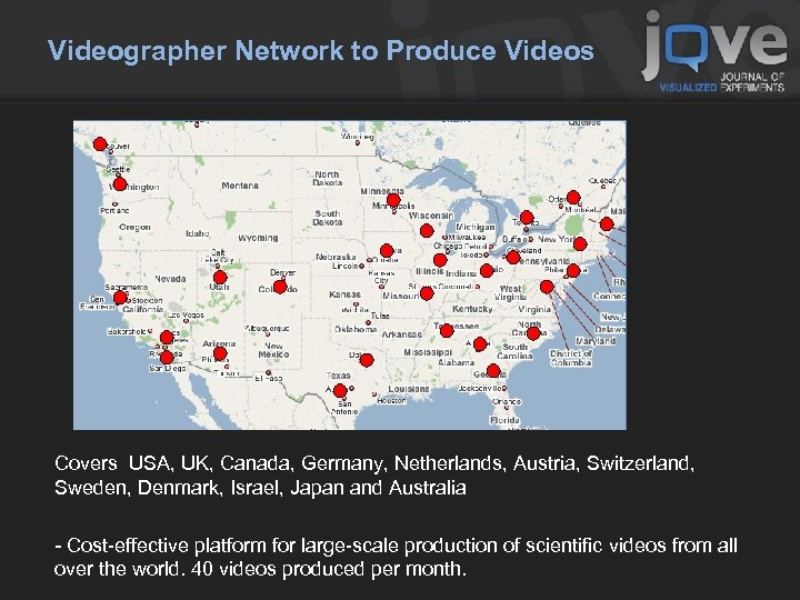 Videographer Network to Produce Videos Covers USA, UK, Canada, Germany, Netherlands, Austria, Switzerland, Sweden,