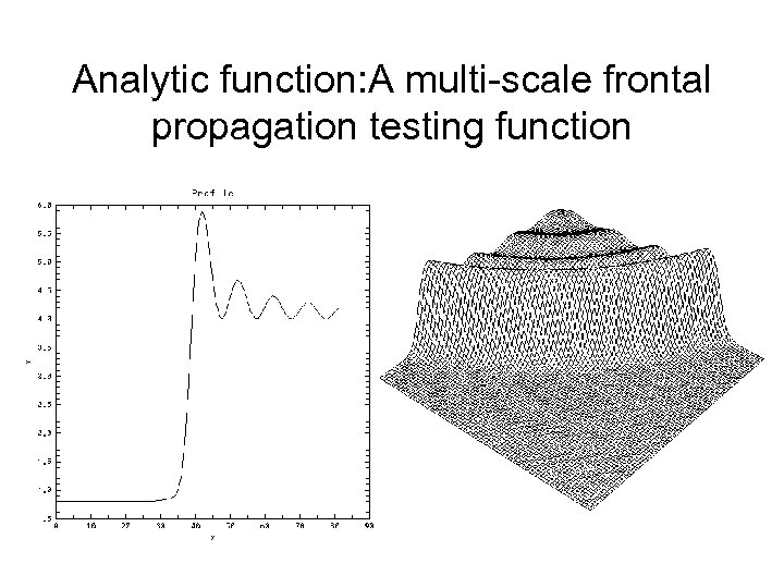 Analytic function: A multi-scale frontal propagation testing function