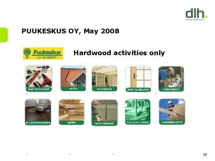 PUUKESKUS OY, May 2008 Hardwood activities only 38