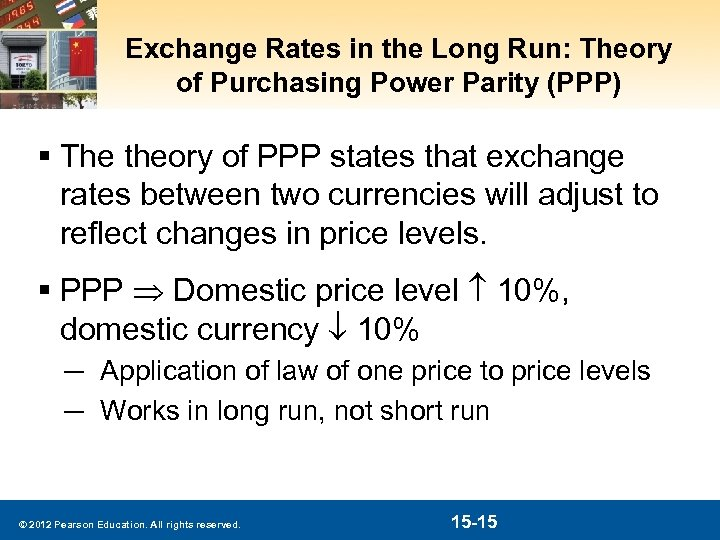 Exchange Rates in the Long Run: Theory of Purchasing Power Parity (PPP) § The