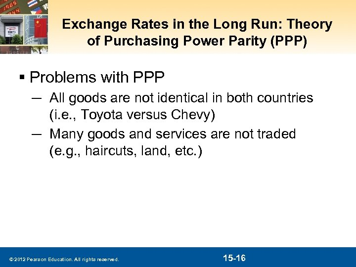 Exchange Rates in the Long Run: Theory of Purchasing Power Parity (PPP) § Problems
