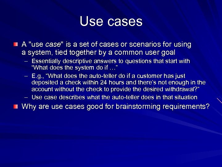 Use cases A
