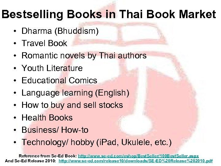 Bestselling Books in Thai Book Market • • • Dharma (Bhuddism) Travel Book Romantic