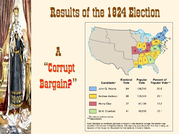 "Results of the 1824 Election A ""Corrupt Bargain? """