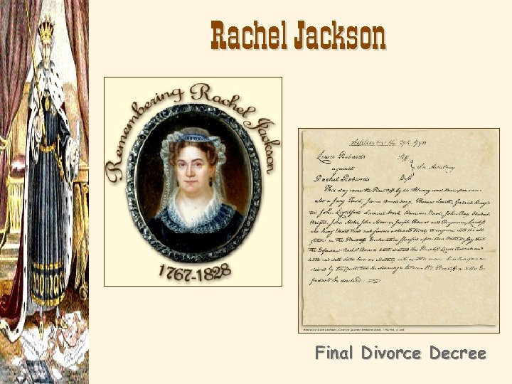 Rachel Jackson Final Divorce Decree
