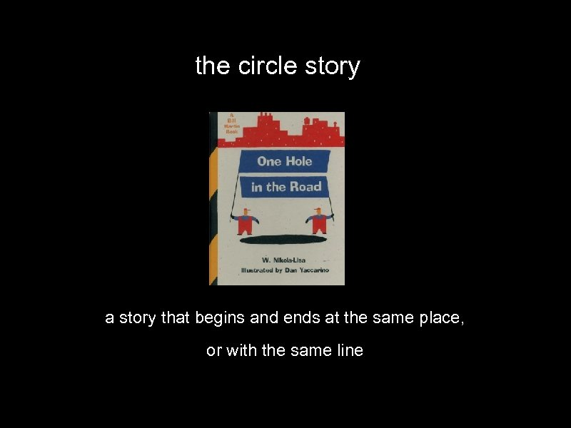 the circle story a story that begins and ends at the same place, or