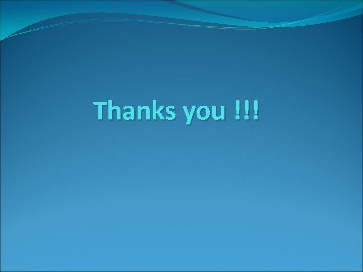 Thanks you !!!