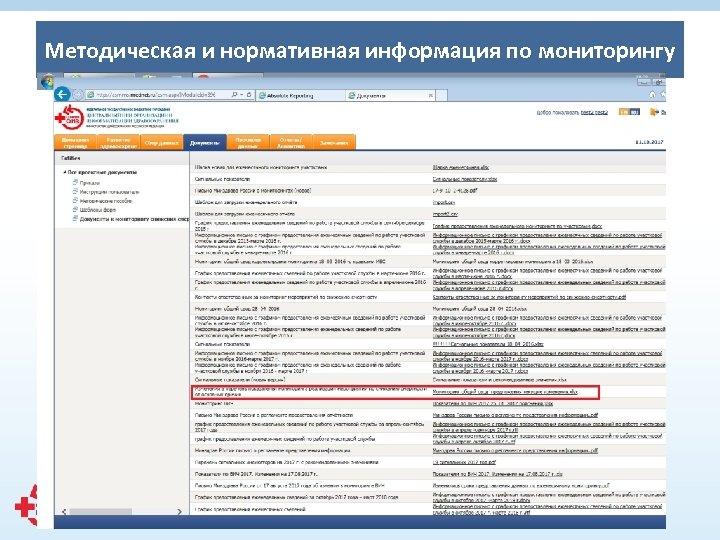 Методическая и нормативная информация по мониторингу