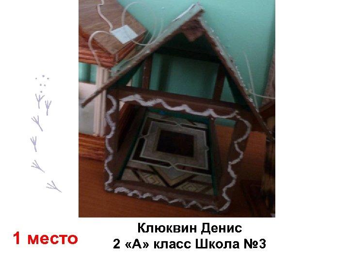 1 место Клюквин Денис 2 «А» класс Школа № 3