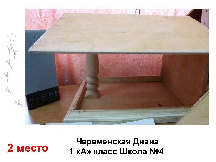 2 место Череменская Диана 1 «А» класс Школа № 4