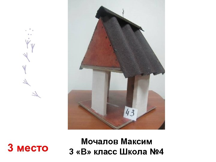 3 место Мочалов Максим 3 «В» класс Школа № 4