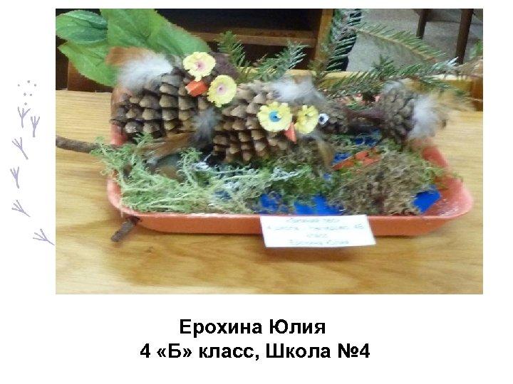 Ерохина Юлия 4 «Б» класс, Школа № 4