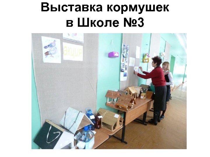 Выставка кормушек в Школе № 3