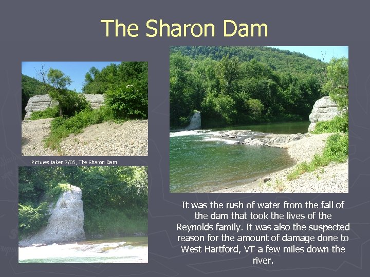 The Sharon Dam Pictures taken 7/05, The Sharon Dam It was the rush of