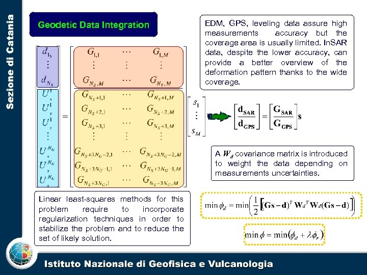 Geodetic Data Integration EDM, GPS, leveling data assure high measurements accuracy but the coverage