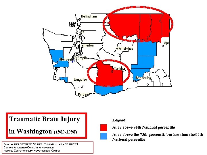 Traumatic Brain Injury in Washington (1989 -1998) Source: DEPARTMENT OF HEALTH AND HUMAN SERVICES