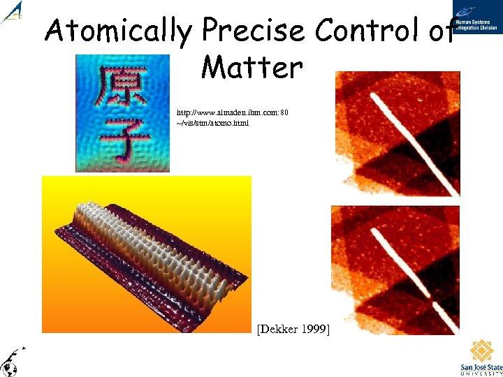 Atomically Precise Control of Matter http: //www. almaden. ibm. com: 80 ~/vis/stm/atomo. html [Dekker
