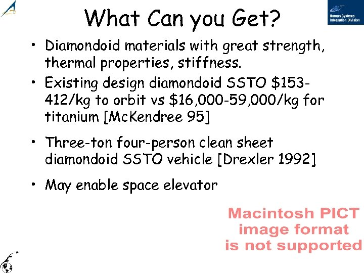 What Can you Get? • Diamondoid materials with great strength, thermal properties, stiffness. •