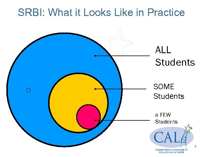 SRBI: What it Looks Like in Practice ALL Students SOME Students a FEW Students