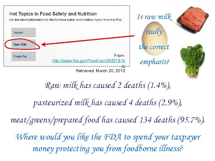 Is raw milk really the correct From: http: //www. fda. gov/Food/ucm 292218. ht m