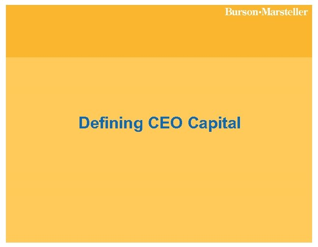 Defining CEO Capital