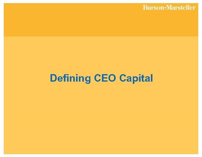 Defining CEO Capital