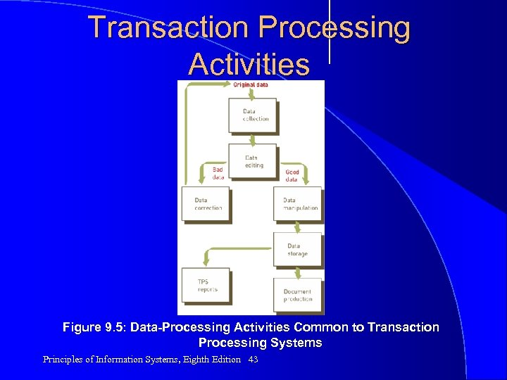 Transaction Processing Activities Figure 9. 5: Data-Processing Activities Common to Transaction Processing Systems Principles