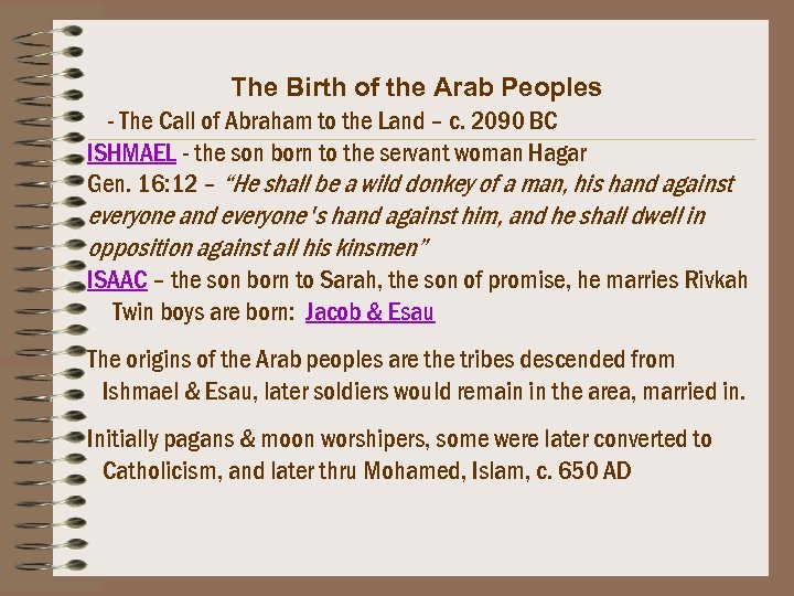 The Birth of the Arab Peoples - The Call of Abraham to the Land