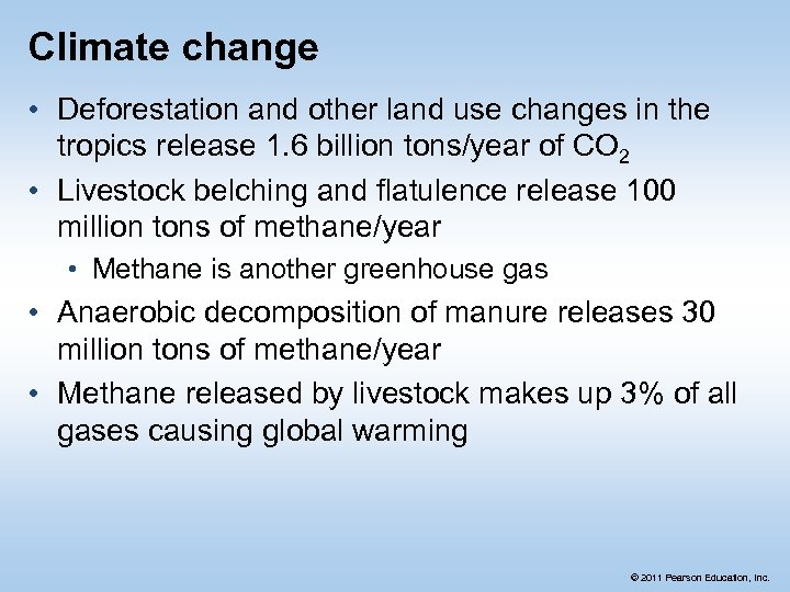 Climate change • Deforestation and other land use changes in the tropics release 1.