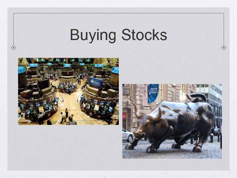 Buying Stocks